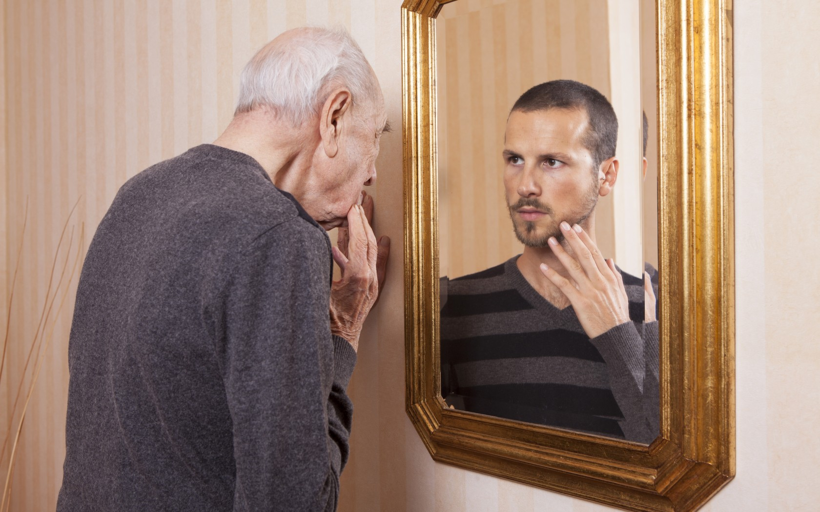 Old Man Young Man Mirror