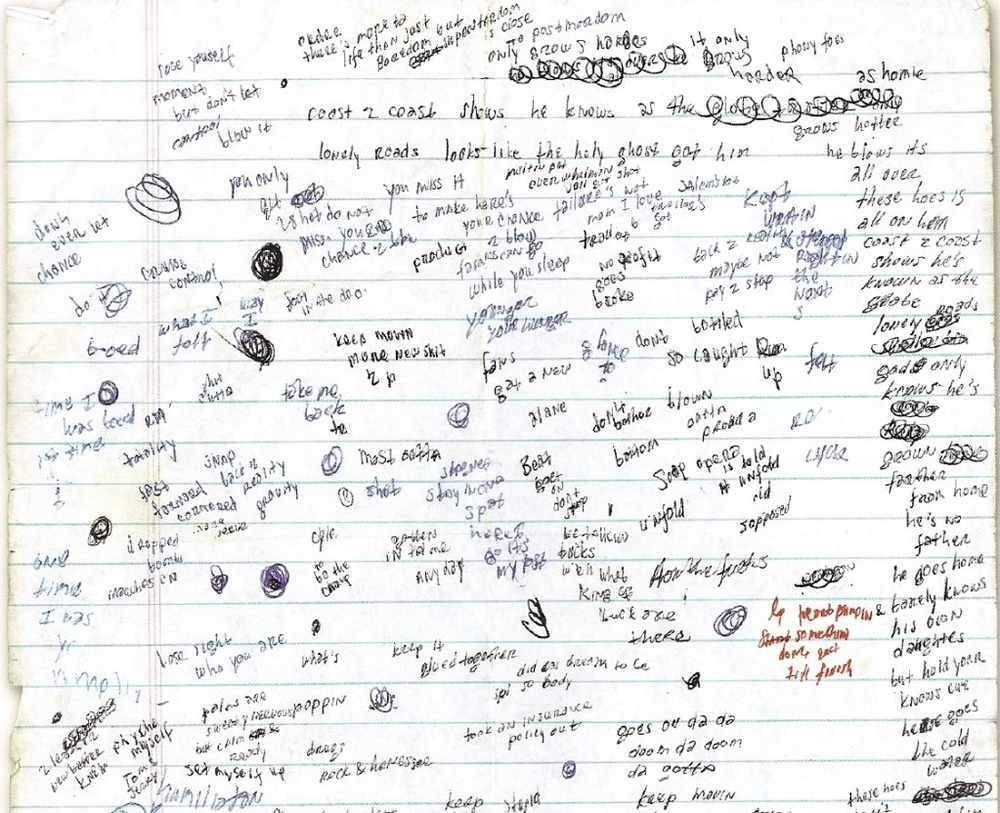 Scraps From Eminem's Notebook – The Passion of Christopher