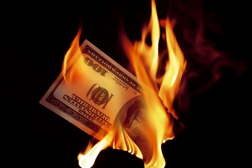 burning-dollar